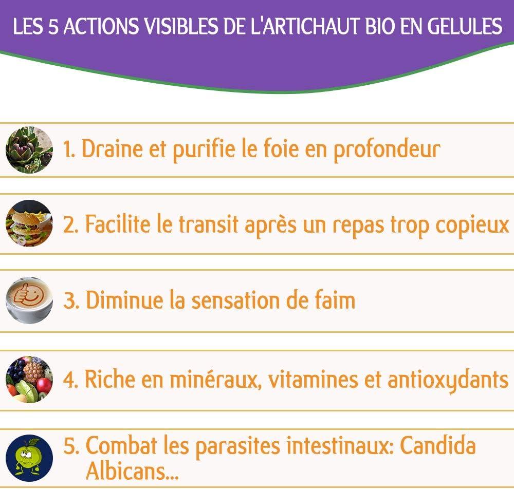Alcachofa Biológica-90 píldoras-Nutricite Bio-Desintoxicación natural - 100% biológico y producido en Francia- Alcachofa para activar el tránsito y ...