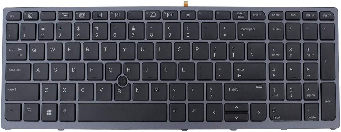 Acompatible Replacement Keyboard for HP Zbook 15 G3 17 G3 848311-001 Layout Keyboard with Backlight
