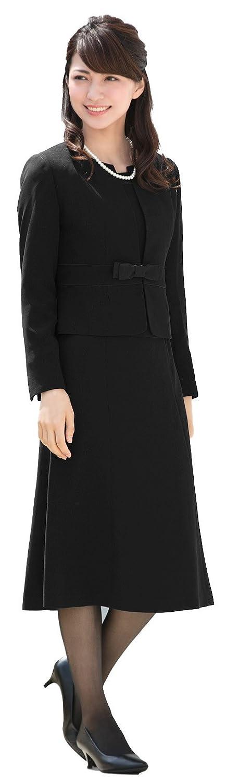 (アッドルージュ) AddRouge ブラックフォーマル レディース 喪服 礼服 大きいサイズ オールシーズン ワンピース 前開き【t5252B】 ロング丈 B06XCGHQT7 19号ABR