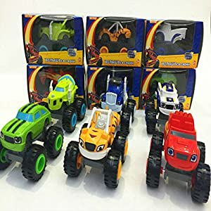 Blaze and the Monster Machines Vehicle Diecast Toy Racer Cars Truck Set of 6 Pcs