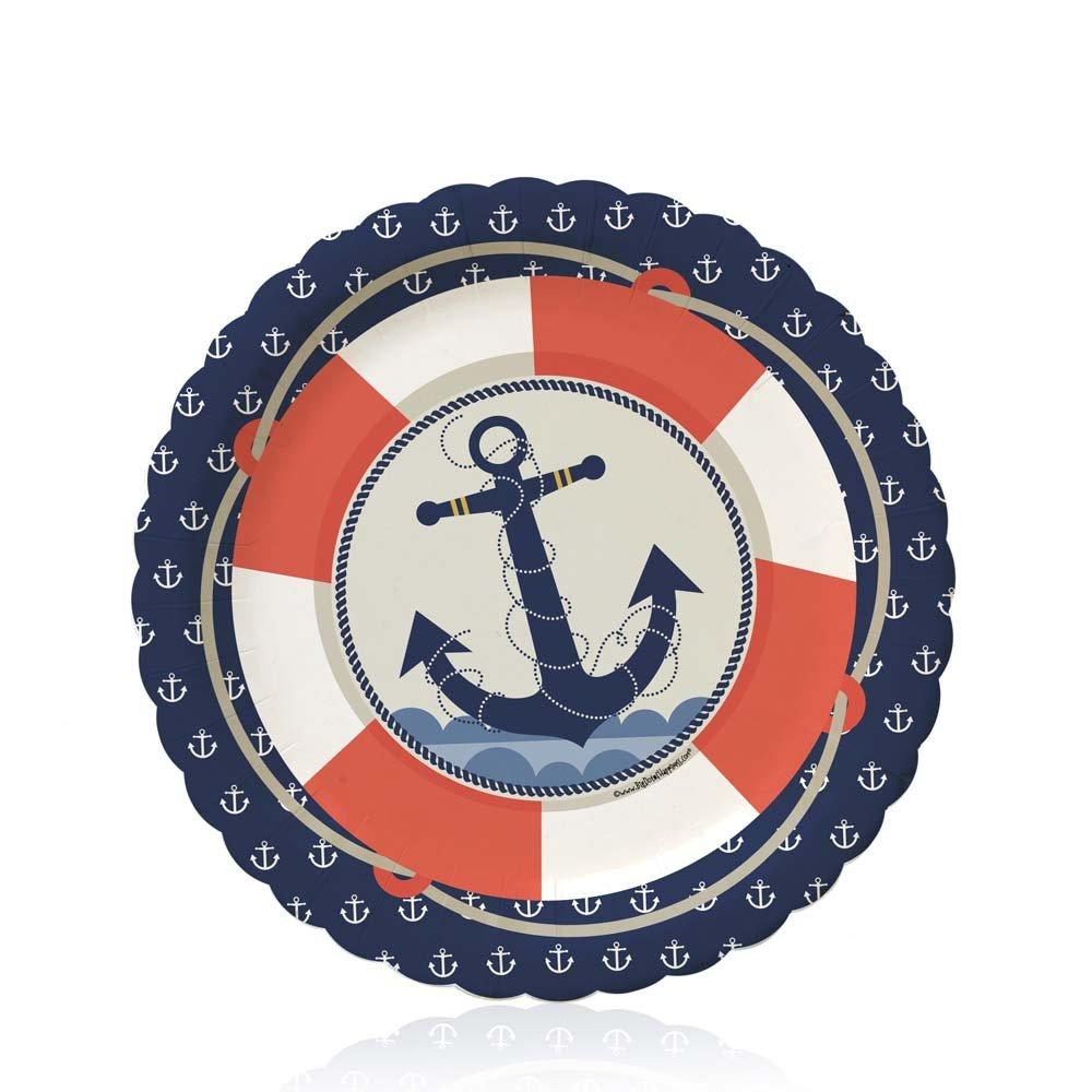 Amazon.com Ahoy Nautical - Party Tableware Plates Cups Napkins - Bundle for 16 Toys \u0026 Games  sc 1 st  Amazon.com & Amazon.com: Ahoy Nautical - Party Tableware Plates Cups Napkins ...