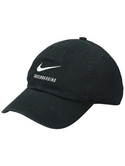 Amazon.com  Nike H86 SB Skateboarding Adjustable Hat Black White ... ae91d1171ce