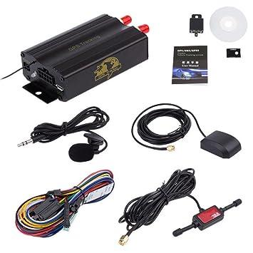 GPS Tracker – kingwo TK103 A vehículo GPS GPRS SMS Tracker, alarma de coche,