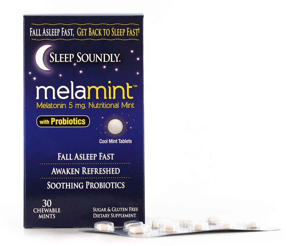 Amazon.com: Sleep Soundly Melamint Melatonin Melt 5mg with Probiotics, Fast Acting Sleep Formula, 30 servings: Health & Personal Care