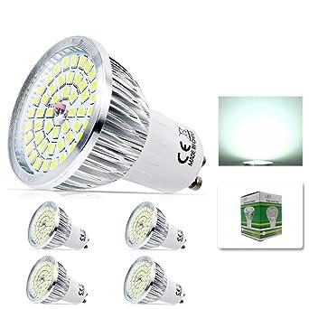 mengjay® 4 pieza – GU10 6 W LED Lámpara, Repuesto para bombilla halógena de