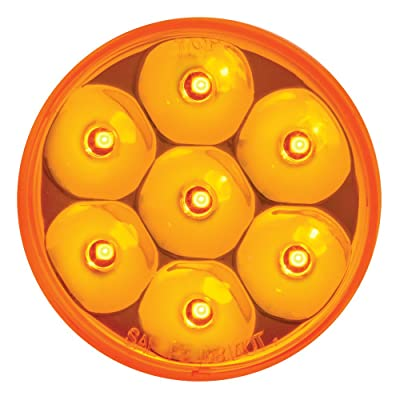 """Grand General 76580 Amber 2-1/2"""" Low Profile Pearl 7-LED Sealed Marker/Clearance Light: Automotive"""
