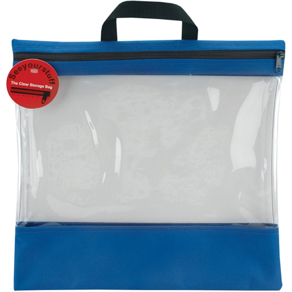Lyle SYSB4-ROY See Your Stuff Clear Storage Bags,16-Inch by 16-Inch, Royal