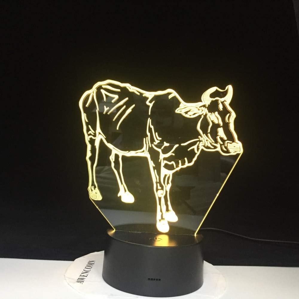 BFMBCHDJ Hot New 7 Colors Changing 3D Bulbing Light Agua Buffalo ...