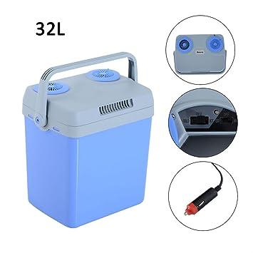 Desconocido Nevera eléctrica portátil 12 V calentador caja mini nevera refrigerador coche viaje 32 L