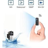 ZZCP Mini Camara Espia Oculta Acuatica, 1080P Full HD Camaras de Seguridad WiFi Exterior Portátil con Visión Nocturna Detector de Movimiento, Camara de Vigilancia IP Micro Interiores/Exteriores