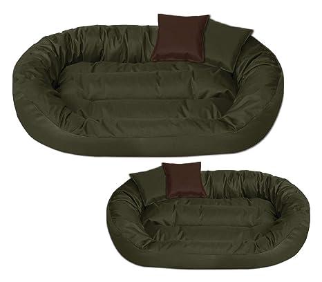 BedDog Sunny Verde XXL Aprox. 110x80cm colchón para Perro, 13 Colores, Cama para