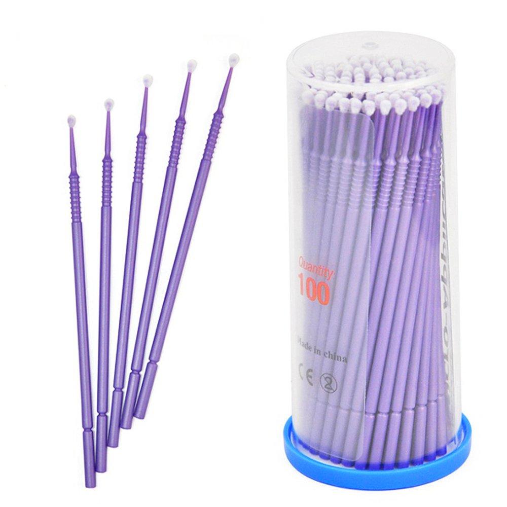 Aszune Eyelash Extension Swabs,Disposable Micro Applicator Brush Stick Eyelash Extension Swabs