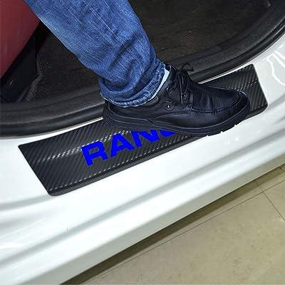 SENYAZON Ranger Decal Sticker Carbon Fibre Vinyl Reflective Car Door Sill Decoration Scuff Plate for Ford Ranger (Blue): Automotive