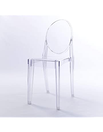 Quality Ghost Inspired Designer Victoria Transparent Makeup Dressing Table Dining Clear Modern Side Chair Kitchen
