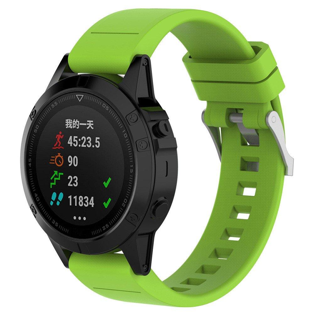 Modaworld _Correa de reloj Inteligente Reemplazo Silicagel Correa de Banda de instalación rápida para Garmin Fenix 5 Watch (Verde): Amazon.es: Deportes y ...