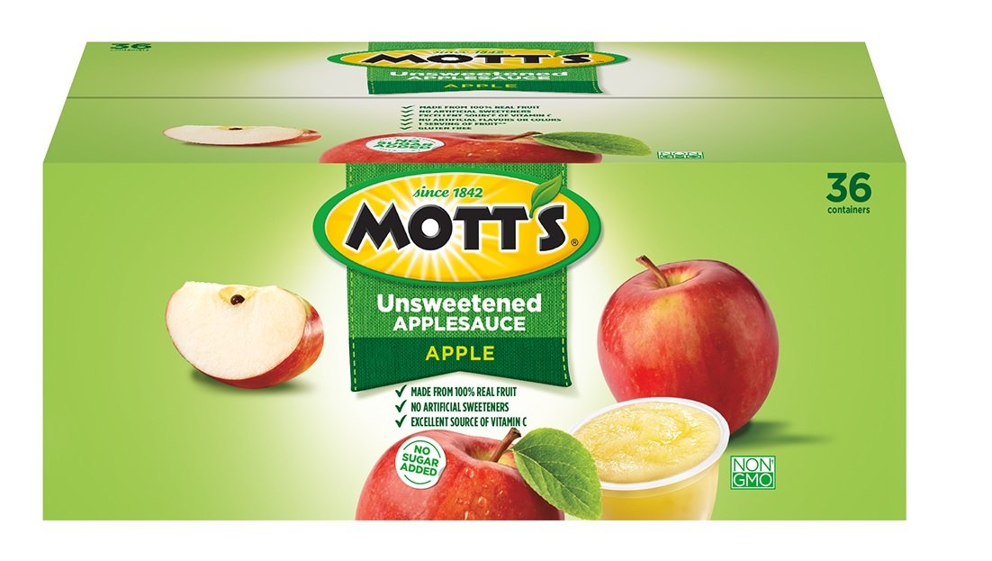 Mott's Organic Unsweetened Apple Sauce, 3.9 Ounce, 36 Count