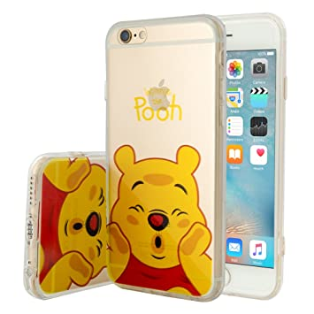 134a9963684 Tienda vcomp® Transparente Silicona TPU Funda Carcasa con diseño de Dibujos  Animados Disney para Apple iPhone 6/6s - Winnie The Pooh: Amazon.es:  Electrónica