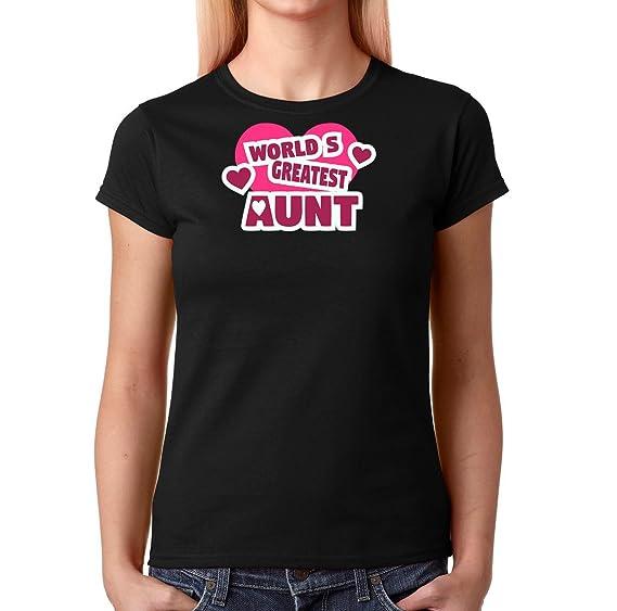 95acfadaa634 Amazon.com: AW Fashions World's Greatest Aunt - Premium Women's T-Shirt:  Clothing