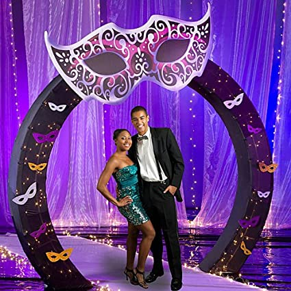 Amazon Com Masquerade Ball Mardi Gras Arch Decorations Standup
