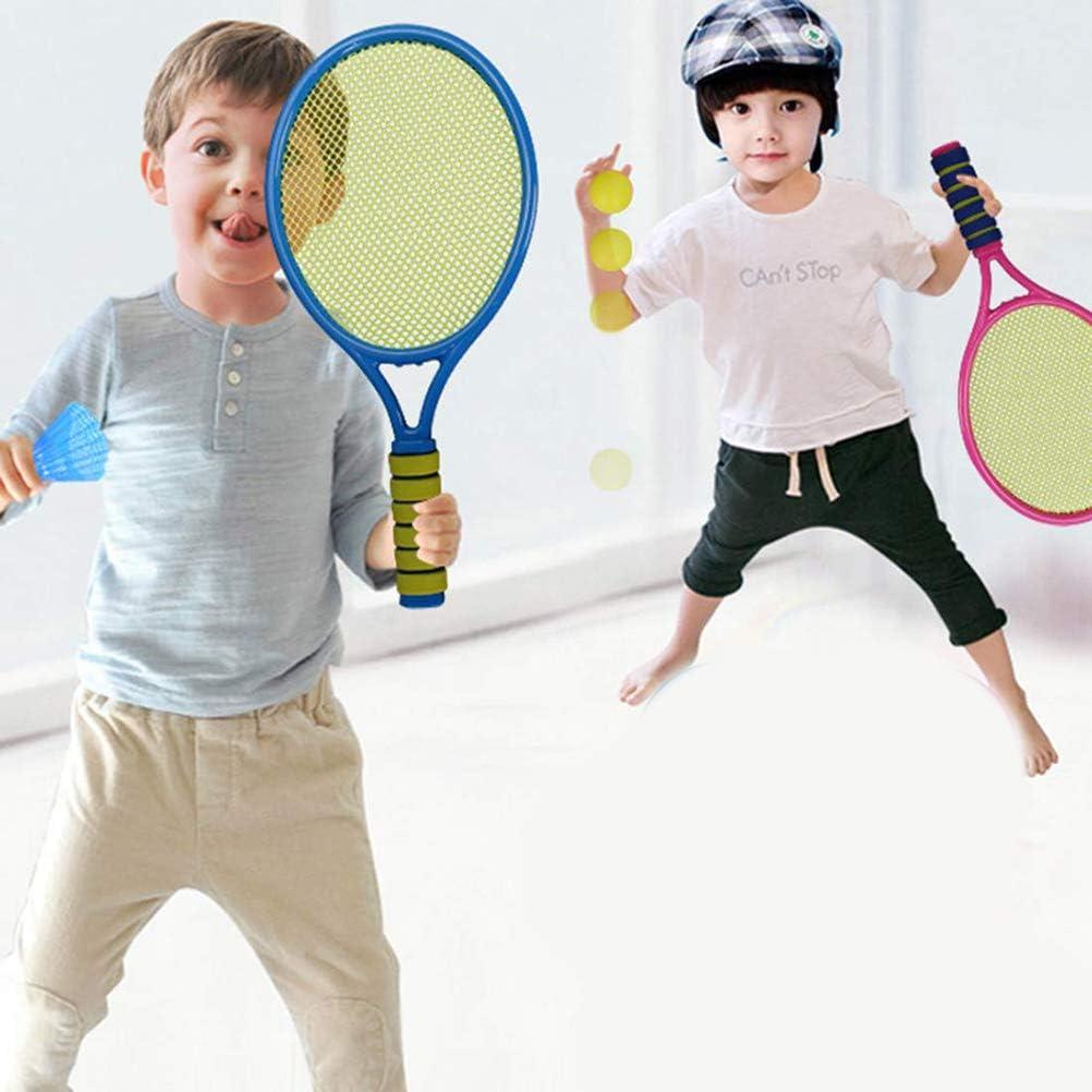 Racchetta da tennis per bambini colore casuale racchette da tennis palle set leggera racchetta di volano del giocattolo a Beach Garden Backyard