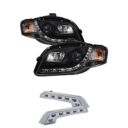 Amazoncom AUDI A PROJECTOR R LED HEADLIGHTS PAIR NEW - 2006 audi a4 headlights