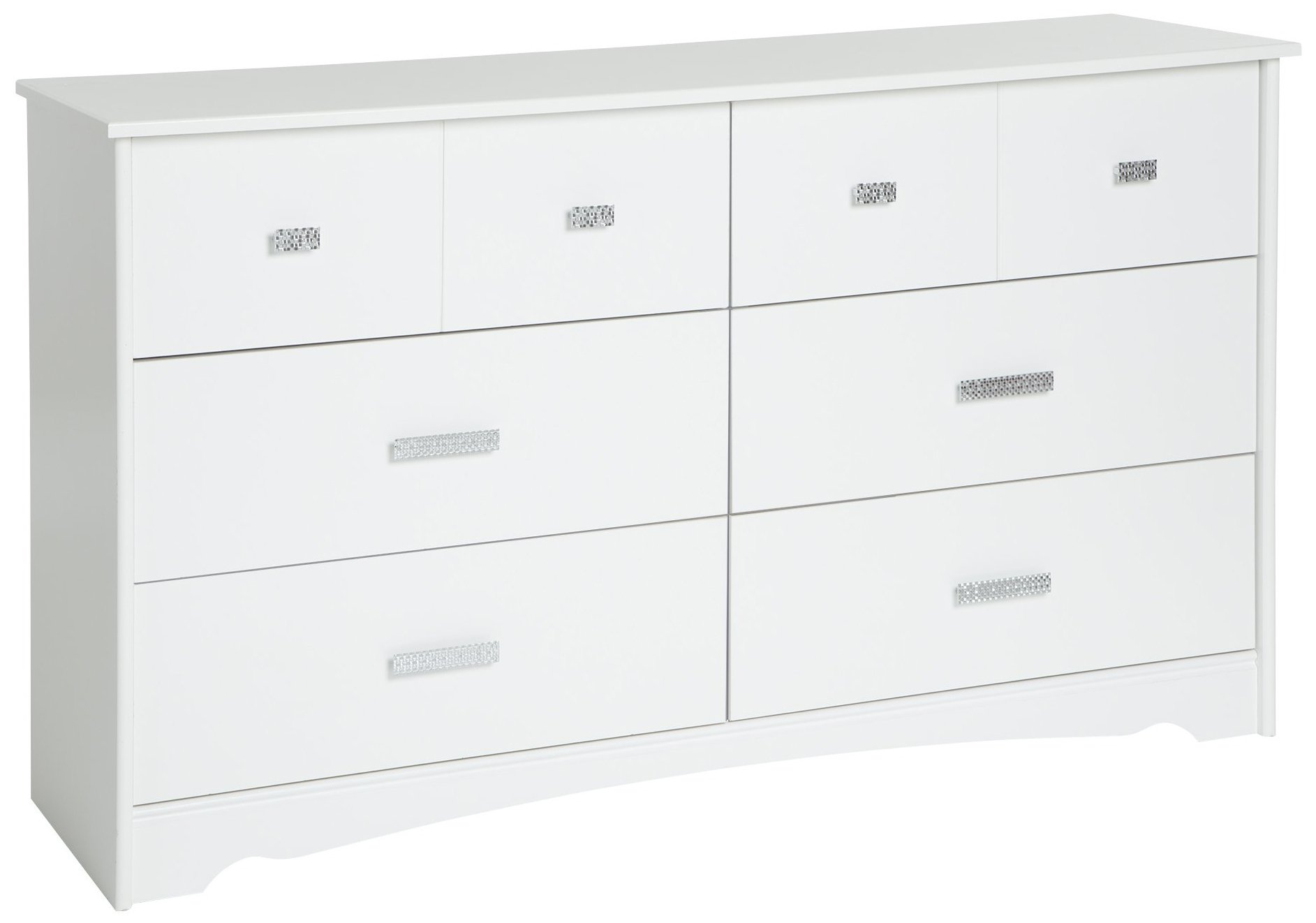 South Shore Tiara 6-Drawer Double Dresser, Pure White