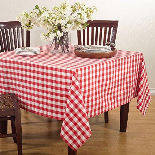 Fennco Styles Gingham Plaid Cotton Square Tablecloth -72