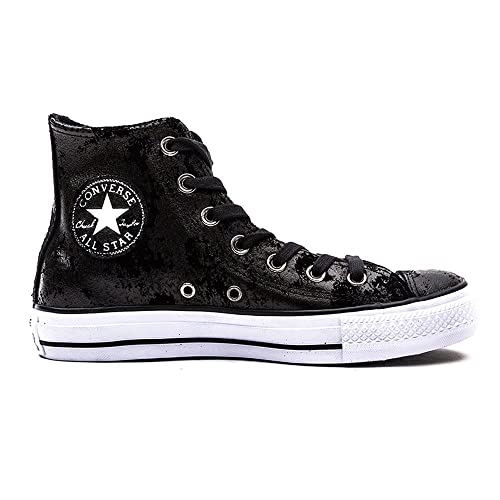 2284050e363d46 Converse Womens Chuck Taylor All Star Hardware Black Silver Hi top Trainers  3