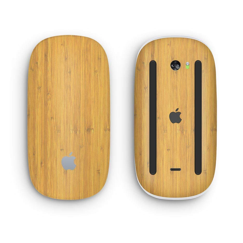 Design Skinz Premium Vinyl Decal for The Apple Magic Mouse 2 Wireless, Rechargable Raw Wood Planks V3 with Multi-Touch Surface