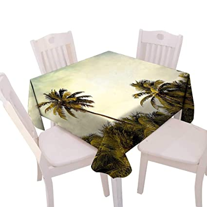 Amazoncom Cheery Home Square Table Cloth Foot Table In Washable - Palm-tree-furniture-from-pacific-green