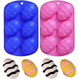 HomyPlaza Easter Egg Shaped Silicone Cake Mold, Trays Cooking Supplies for Chocolate, Candies, Ice Cube Trays Baking Molds, (