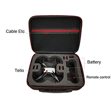 DJI Tello Drone Accessories UPXIANG EVA Portable Handheld Waterproof Shoulder Bag Storage Carrying Battery Case