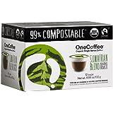 OneCoffee Organic Single Serve Coffee for Keurig Coffee Makers- 1 Box of 12 Cups (Sumatran Blend(Dark Roast))
