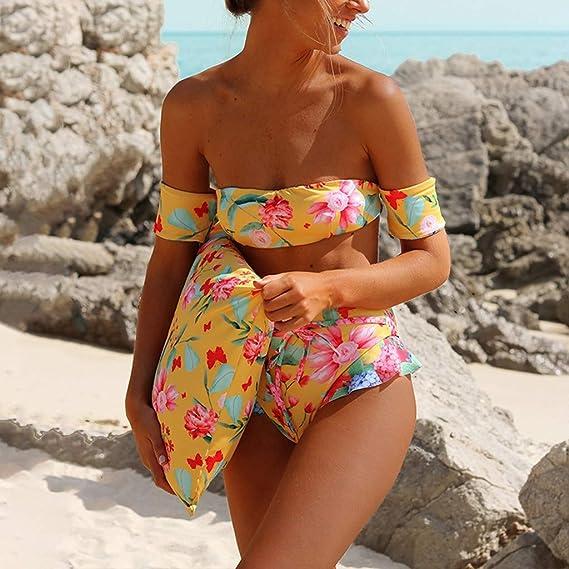 Mymyguoe Traje de Baño para Damas Babydoll Bikinis Mujer brasileños Bikini Verano Ropa de baño de Playa Sexy Bañador Conjunto de Bikini Bikinis Mujeres Push ...