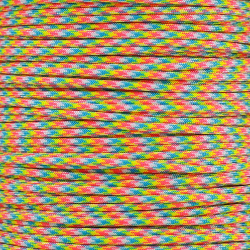 PARACORD PLANET 10 20 25 50 100 Foot Hanks and 250 1000 Foot Spools of Parachute 550 Cord Type III 7 Strand Paracord (Birthday Cake 100 Feet) (Best Types Of Cake)
