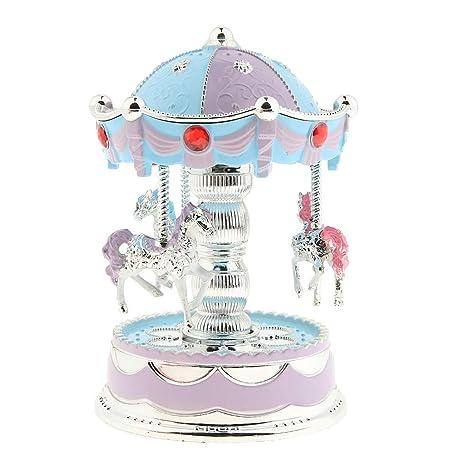 Caja de Música Azul Regalo Cumpleaños para Niños Accesorios ...