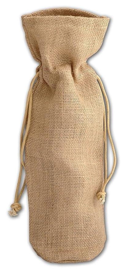 Amazon.com: Único Botella Yute Natural Vino bolsas ...
