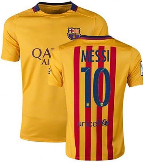 Lionel Messi # 10 Jersey 2015 – 2016 Barcelona Away Jersey España fútbol Club: Amazon.es: Deportes y aire libre