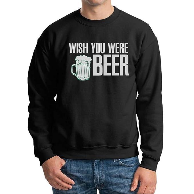 Visual Basics Wish You were Beer Sudadera/Sweatshirt - Negro - X-Large: Amazon.es: Ropa y accesorios