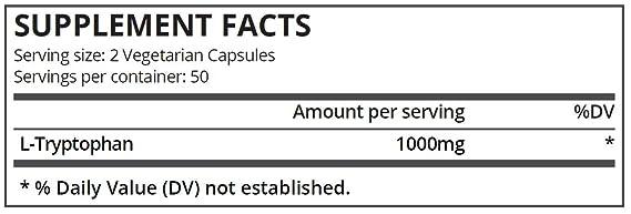 Pure Science L-triptófano 500 mg - 100 cápsulas vegetarianas: Amazon.es: Salud y cuidado personal
