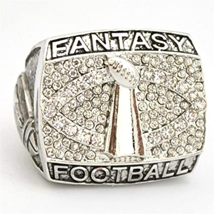 9f8cdbced6b Amazon.com   Fantasy Football Championship Ring Trophy Prize Super Bowl  Championship Ring for Fans Collections (10)   Sports   Outdoors