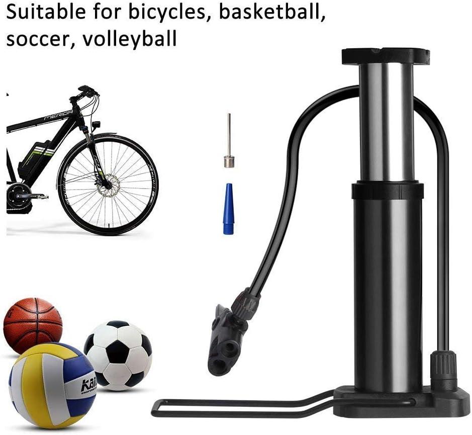 Poscoverge Mini Bike Pompe /à Pied Pied Activ/ée Pompe /à V/élo Portable Pompe /à V/élo Pneu de V/élo Pompe Universel Valves Presta et Schrader en Alliage daluminium Corps Aiguille de gaz