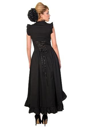 Banned Black Gothic Copper Victorian Dress - UK 10/US 6/EU 36