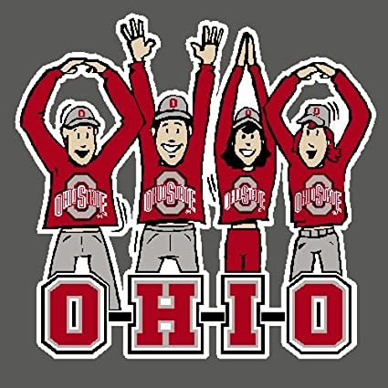 Ohio State Buckeyes Decal Fans Full Color