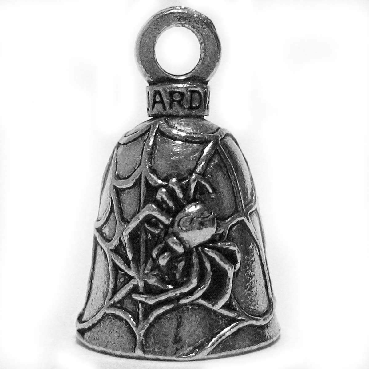 Guardian® Black Widow Spider on Web Motorcycle Biker Luck Gremlin Riding Bell by Guardian® Bell