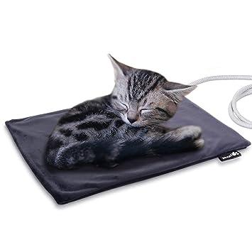Manta Eléctrica para Gatos Almohadilla de Calefacción para Perros y Gatos con Temperatura Constante Automática 38