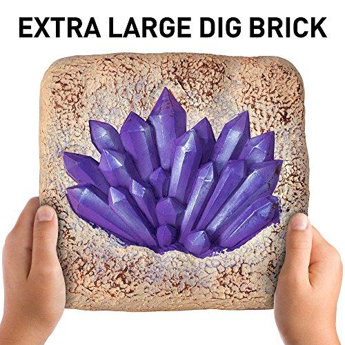 61nHa2xSOHL - NATIONAL GEOGRAPHIC Mega Gemstone Dig Kit-Excavate 15 real Gems including Amethyst, Tiger's Eye and Quartz