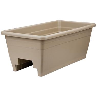 Akro Mils (SPX24DB0E32) Deck Box Planter, Mocha, 12-Inch