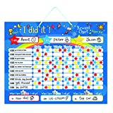 my star chart - Magnetic Reward / Star / Responsibility / Behavior Chart for up to 3 Children | Rigid board with hanging loop with Bonus Extra Pen | Helps Teach Responsibility | Premium Dry Erase Board