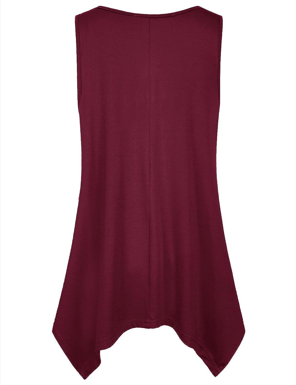 6b9d1fb0297a2 Amazon.com  SeSe Code Women s Summer Sleeveless Tunic Shirts Scoop Neck  Flowy Casual Tank  Clothing